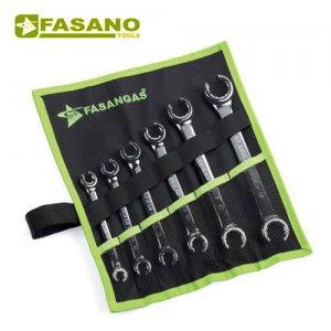 """Σετ ρακορόκλειδα κλειδιά ίντσας 1/4""""-1"""" 7 τεμαχίων FG 180/SP7IN FASANO Tools Κλειδιά"""