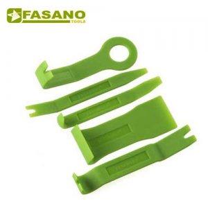 Σετ λεβιέδες αποκόλλησης κλίπ ταπετσαρίας πλαστικοί 5 τεμαχίων FG 186P/S5 FASANO Tools Φανοποϊία