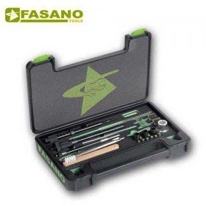 Κασετίνα με 21 ειδικά εργαλεία καθαρισμού μπεκ πετρελαίου FG 190/S21 FASANO Tools