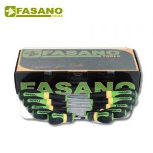 Σετ κατσαβίδια ίσια & σταυρού 12 τεμαχίων FG 22/S12 FASANO Tools Κατσαβίδια & Μύτες