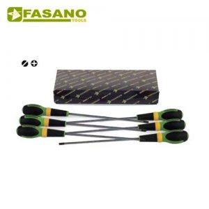 Σετ κατσαβίδια ίσια & σταυρού μακρυά 6 τεμαχίων FG 22XL/S6 FASANO Tools Κατσαβίδια & Μύτες