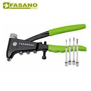 Πριτσιναδόρος για πριτσίνια με σπείρωμα χειρός M3-M6 FG 261 FASANO Tools Πριόνισμα - Κοπή