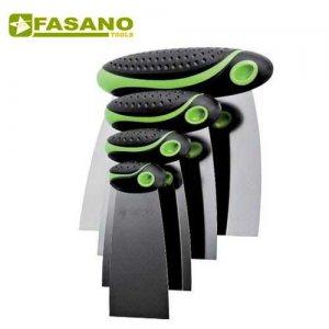 Σετ σπάτουλες με ανοξείδωτη εύκαμπτη λάμα 4 τεμαχίων FG 47/S4 FASANO Tools Πριόνισμα - Κοπή
