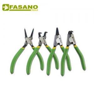 Σετ τσιμπίδια ασφαλειών 4 τεμαχίων 140mm ίσια & κυρτά FG 51/S4 FASANO Tools Πένσες