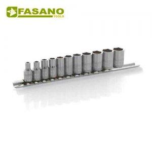 """Σετ καρυδάκια 1/4"""" σε ράγα 4-14mm 11 τεμαχίων FG 624/S11 FASANO Tools Κασετίνες Καρυδάκια"""