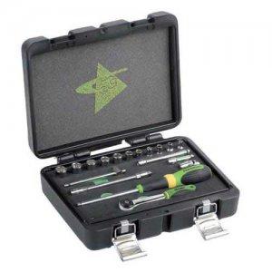 """Κασετίνα με καρυδάκια & εξαρτήματα 1/4"""" 18 τεμαχίων FG 624/S18 FASANO Tools Κασετίνες Καρυδάκια"""