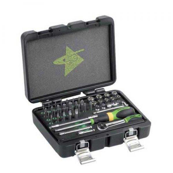 """Κασετίνα με καρυδάκια & μύτες 1/4"""" 45 τεμαχίων FG 624/S45 FASANO Tools Κασετίνες Καρυδάκια"""