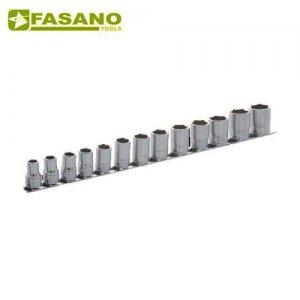 """Σετ καρυδάκια 1/2"""" σε ράγα 10-22mm 13 τεμαχίων FG 625A/S13 FASANO Tools Κασετίνες Καρυδάκια"""