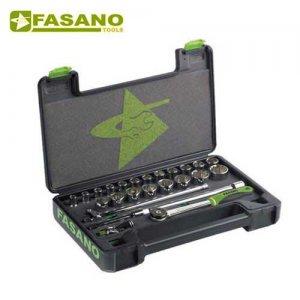 """Κασετίνα καρυδάκια 1/2"""" και εξαρτήματα 25 τεμαχίων FG 625A/S25 FASANO Tools Κασετίνες Καρυδάκια"""