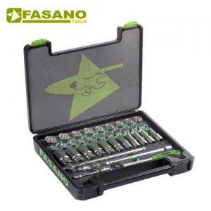 """Κασετίνα καρυδάκια 1/2"""" και εξαρτήματα 37 τεμαχίων FG 625A/S37 FASANO Tools Κασετίνες Καρυδάκια"""