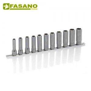 """Σετ καρυδάκια μακρυά 1/2"""" σε ράγα 10-22mm 13 τεμαχίων FG 625AL/S11 FASANO Tools Κασετίνες Καρυδάκια"""