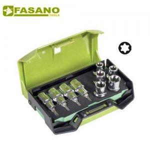 """Σετ καρυδάκια torx 1/2"""" αρσενικά & θηλυκά 9 τεμαχίων FG 625TX/S9B FASANO Tools Κασετίνες Καρυδάκια"""