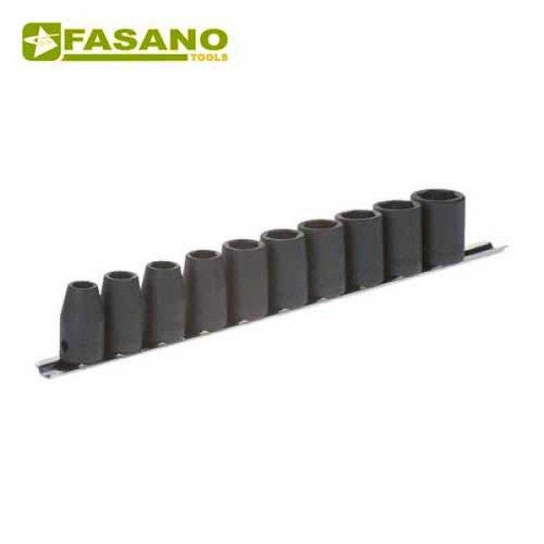 """Σετ καρυδάκια κρούσης 1/2"""" σε ράγα 10-21mm 10 τεμαχίων FG 628/S10 FASANO Tools Κασετίνες Καρυδάκια"""