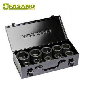 """Σετ καρυδάκια κρούσης 3/4"""" σε κασετίνα 17-46mm 10 τεμαχίων FG 629C/S10 FASANO Tools Κασετίνες Καρυδάκια"""