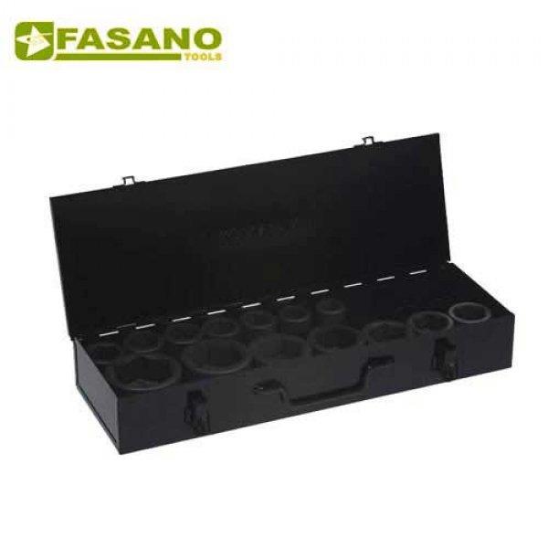 """Σετ καρυδάκια κρούσης 1"""" σε κασετίνα 24-65mm 14 τεμαχίων FG 630A/S14 FASANO Tools Κασετίνες Καρυδάκια"""