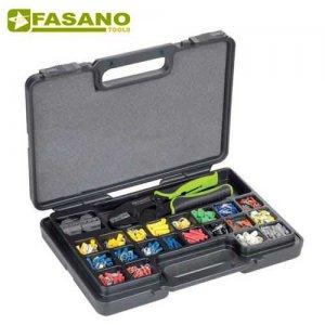 Συλλογή πρέσα ακροδεκτών με 3 εναλλασόμενα άκρα & ακροδέκτες FG 68U/S439 FASANO Tools Πρέσες Ακροδεκτών
