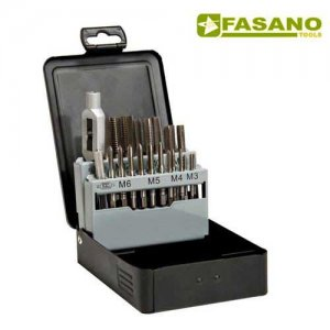 Συλλογή κολαούζα M3-M12 με μανέλα 21 τεμαχίων FG 71/S22 FASANO Tools Πριόνισμα - Κοπή