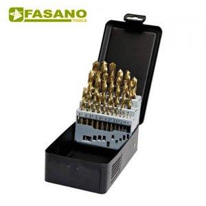 Σετ τρυπάνια HSS-TIN 1-13mm x 0,5mm 25 τεμαχίων FG 75TIN/S25 FASANO Tools Πριόνισμα - Κοπή