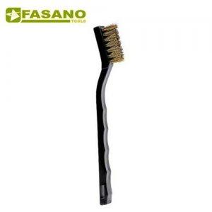 Συρματόβουρτσα χειρός ορειχάλκινη με πλαστική χειρολαβή FG 79/SP FASANO Tools Ξύστρες - Σπάτουλες