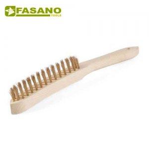 Συρματόβουρτσα χειρός ορειχάλκινη 3 σειρών με ξύλινη χειρολαβή FG 79/SP2 FASANO Tools Ξύστρες - Σπάτουλες