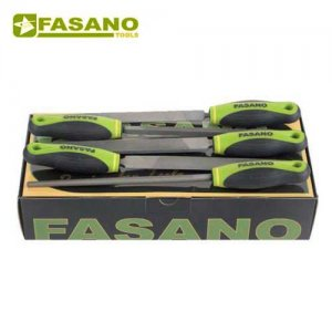 Σετ λίμες 5 τεμαχίων 200mm second cut με χειρολαβή FG 80/S5B FASANO Tools Πριόνισμα - Κοπή
