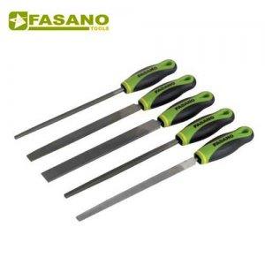 Σετ λίμες 5 τεμαχίων 200mm bastard με χειρολαβή FG 81/S5B FASANO Tools Πριόνισμα - Κοπή