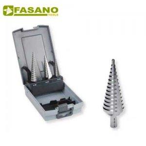 Σετ τρυπάνια κωνικά με διαβάθμιση HSS 3 τεμαχίων 3 - 30mm FG 81HSS/S3 FASANO Tools Πριόνισμα - Κοπή