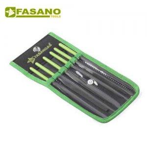 Σετ λίμες λεπτουργικές 6 τεμαχίων FG 83/S6 FASANO Tools Πριόνισμα - Κοπή
