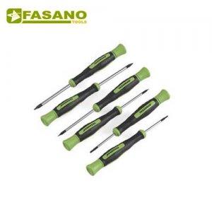 Σετ κατσαβίδια ηλεκτρονικού εγκοπής & Phillips 6 τεμαχίων FG 84PH/S6 FASANO Tools Κατσαβίδια Ηλεκτρονικής