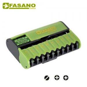 """Συλλογή μύτες & αντάπτορας 1/4"""" 11 τεμαχίων FG 85/S11 FASANO Tools Κατσαβίδια & Μύτες"""