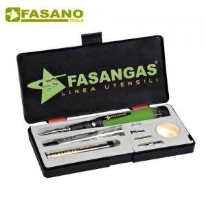 Κολλητήρι αερίου ρυθμιζόμενο σε κασετίνα με εξαρτήματα FG 98/GAS FASANO Tools Κολλητήρια - Μονάδες Συγκόλησης