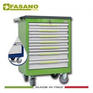 Εργαλειοφόρος 7 συρταριών με πλαστική επιφάνεια ABS μπλέ FG 102B/7T FASANO Tools Εργαλειοφόροι