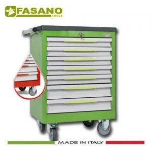Εργαλειοφόρος 7 συρταριών με πλαστική επιφάνεια ABS κόκκινος FG 102R/7T FASANO Tools Εργαλειοφόροι