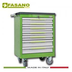 Εργαλειοφόρος 7 συρταριών με πλαστική επιφάνεια ABS πράσινος FG 102V/7T FASANO Tools Εργαλειοφόροι
