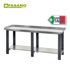 Πάγκος εργασίας 2m με μεταλλική επιφάνεια FG 129/2 FASANO Tools Πάγκοι & Ταμπλό