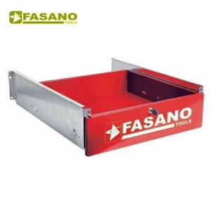 Συρτάρι πάγκου με κλειδαριά κόκκινο FG 129/CR FASANO Tools