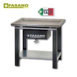 Πάγκος εργασίας ανοξείδωτος 1m αποστράγγισης υγρών FG 130/A1 FASANO Tools Πάγκοι & Ταμπλό