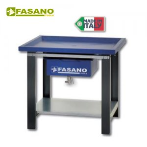Πάγκος εργασίας 1m αποστράγγισης υγρών μπλέ FG 130/B1 FASANO Tools Πάγκοι & Ταμπλό