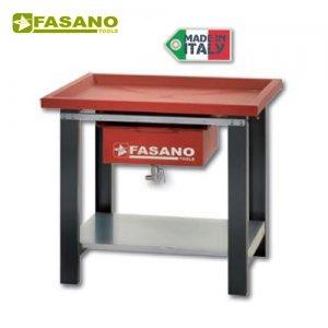 Πάγκος εργασίας 1m αποστράγγισης υγρών κόκκινος FG 130/R1 FASANO Tools Πάγκοι & Ταμπλό