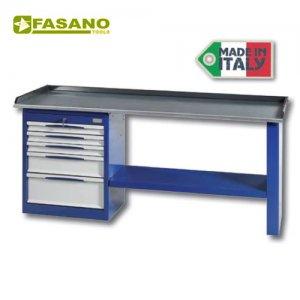 Πάγκος εργασίας 2m με 5 συρτάρια μπλέ FG 131/B2 FASANO Tools Πάγκοι & Ταμπλό