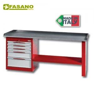 Πάγκος εργασίας 2m με 5 συρτάρια κόκκινος FG 131/R2 FASANO Tools Πάγκοι & Ταμπλό