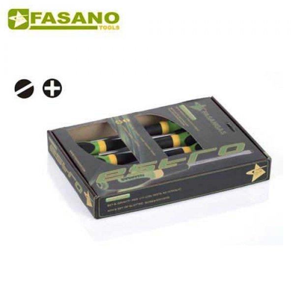 Σετ κατσαβίδια ίσια & σταυρού 10 τεμαχίων FG 22/S10 FASANO Tools Κατσαβίδια & Μύτες
