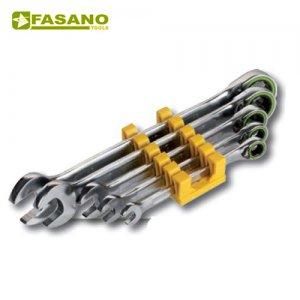 Σετ γερμανοπολύγωνα καστάνιας με κουμπί 5τεμ. 8-19mm σε θήκη FG 605/S5 FASANO Tools