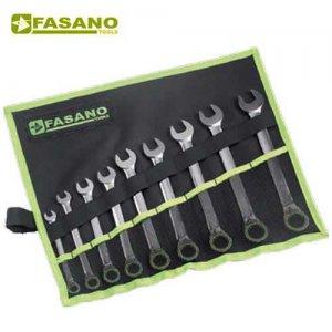 Σετ γερμανοπολύγωνα καστάνιας με κουμπί 12τεμ. 8-19mm σε θήκη FG 605/SP11 FASANO Tools
