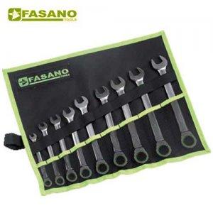 Σετ γερμανοπολύγωνα καστάνιας 9τεμ. 8-19mm σε θήκη FG 606/SP9 FASANO Tools