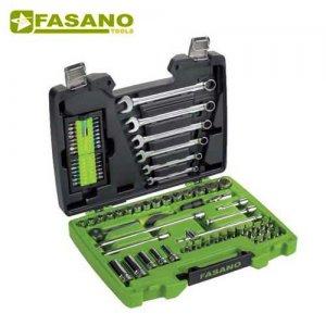 """Κασετίνα καρυδάκια 3/8"""" και κλειδιά 80τεμ FG 624B/S80 FASANO Tools Κασετίνες Καρυδάκια"""