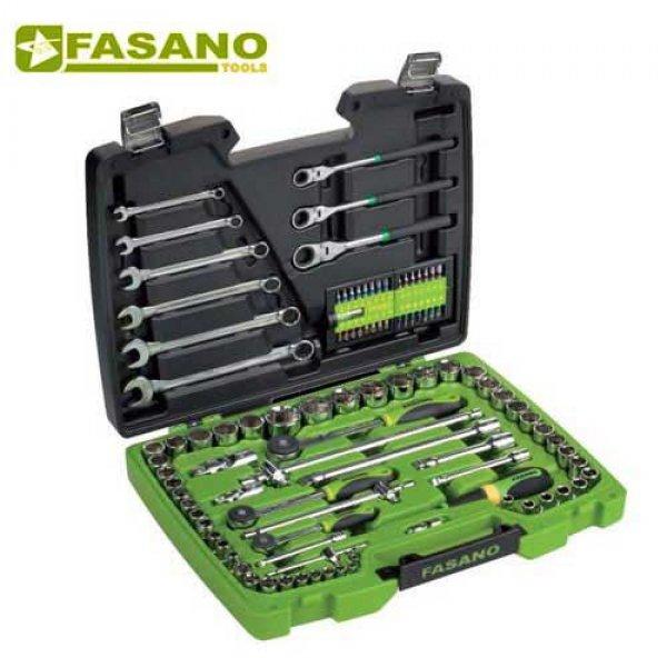 """Κασετίνα καρυδάκια 1/4"""" & 1/2"""" και εξαρτήματα 102 τεμαχίων FG 625/S102 FASANO Tools Κασετίνες Καρυδάκια"""