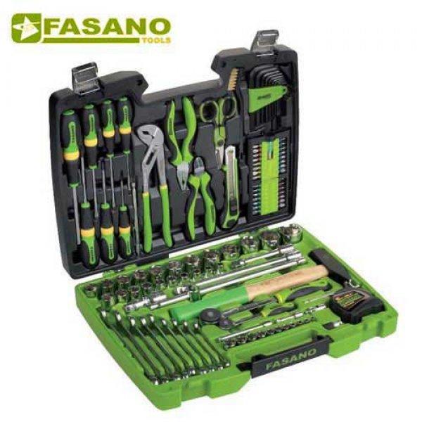 """Κασετίνα καρυδάκια 1/4"""" & 1/2"""" και κλειδιά 110 τεμαχίων FG 625/S110 FASANO Tools Κασετίνες Καρυδάκια"""