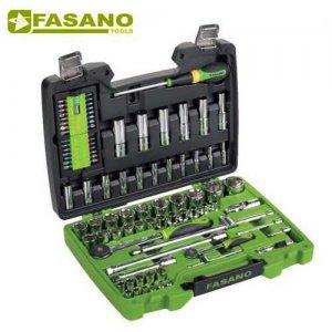 """Κασετίνα καρυδάκια 1/4"""" & 1/2"""" και εξαρτήματα 94 τεμαχίων FG 625/S94 FASANO Tools Κασετίνες Καρυδάκια"""