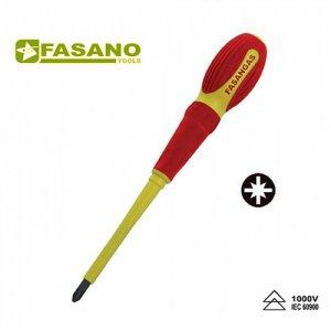 Κατσαβίδια σταυρού Pozidrive με μόνωση 1000 Volt σειράς FG 22E/PZ FASANO Tools | Εργαλεία Χειρός - Ηλεκτρολογικά - Εργαλεία Μόνωσης 1000V | karaiskostools.gr